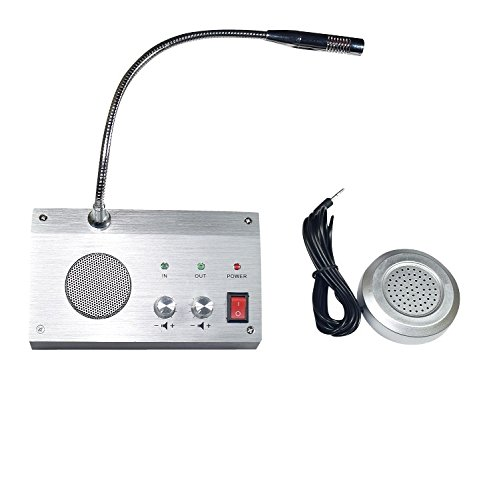 Bank Counter Window Intercom System Dual-way Intercommunication Microphone Interphone Speaker System 3W