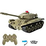 RC Tank Military Truck Vehicles RC Car 2.4Ghz Radio Controlled Military Battle Tank Toy 270°Rotational Realistic Sounds Great Gift for Kids Boys (Green)