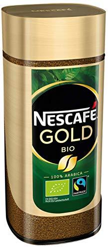 NESCAFÉ GOLD Bio, löslicher Bohnenkaffee aus 100% Arabica Kaffeebohnen, fair gehandelt, biologischer Anbau, koffeinhaltig, 100g