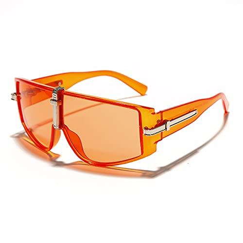 WOJING Gafas Vintage Gafas de Sol Mujeres Steampunk Gafas de Sol para Hombres Eyewear Moda Marcos Grandes Borrar Lentes Transparentes UV400