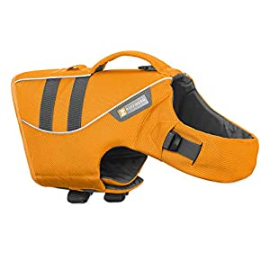 RUFFWEAR, Float Coat Dog Life Jacket for Swimming, Adjustable and Reflective, Wave Orange, X-Small