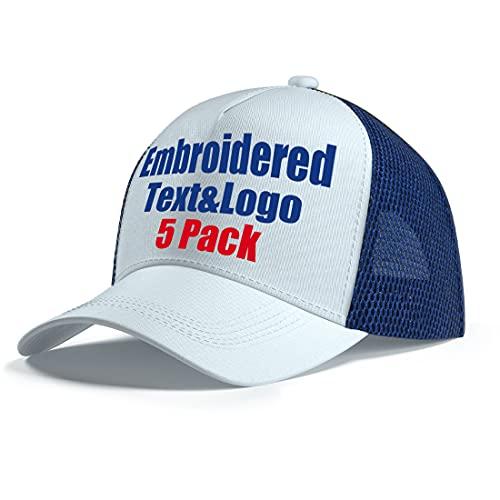 MEINAMI 5 Paquetes Gorra de béisbol de Secado rápido Personalizada Gorra Bordada Personalizada