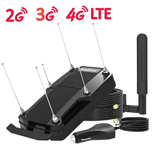 Amazboost Cell Phone Booster for Truck Car Vehicle and RV,4G 3G 2G LTE Cell Phone Booster Kit for...