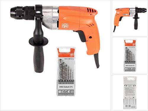 FEIN BOP 10 boormachine 500W met FEIN HSS spiraalboor set (6-delig)
