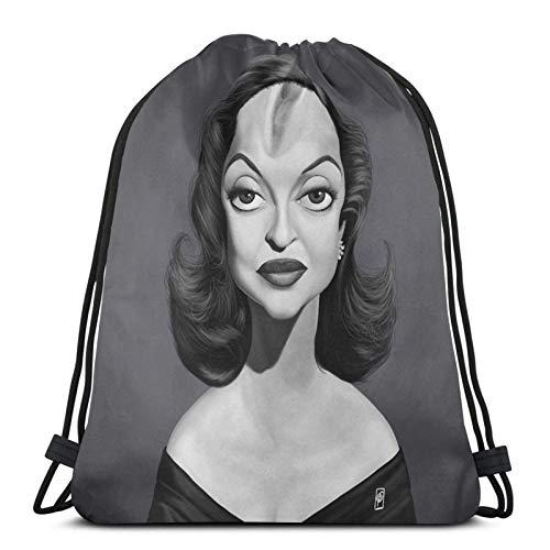 Bette Davis Sport Sackpack Kordelzug Rucksack Gym Bag Sack