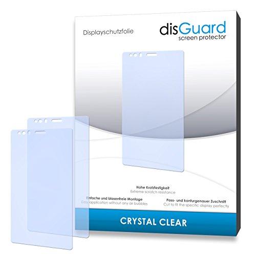 disGuard® Bildschirmschutzfolie [Crystal Clear] kompatibel mit BQ Readers Aquaris E6 [4 Stück] Kristallklar, Transparent, Unsichtbar, Extrem Kratzfest, Anti-Fingerabdruck - Panzerglas Folie, Schutzfolie