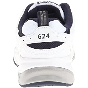 New Balance Men's 624 V2 Casual Comfort Cross Trainer, White/Navy, 11 M US