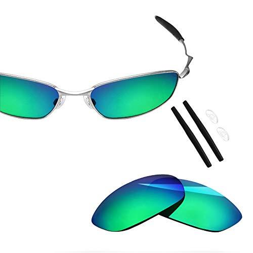 BlazerBuck - Kit de lentes y calcetines de repuesto polarizados antisal para Oakley Whisker