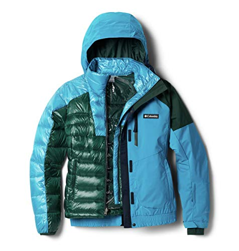 Columbia Tracked out Interchange Chaqueta, Fjord Blue, Spruce, Dark Nocturnal, X-Small para Mujer