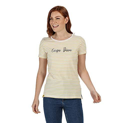 Regatta OLWYN T-Shirts/Polos/Vests Femme, Yellow Sulphur, FR : XXS (Taille Fabricant : 8)