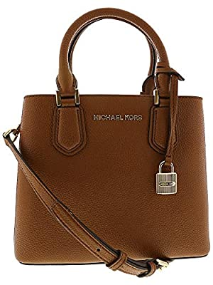 Michael Kors Women's Adele Medium Leather Messenger Bag Cross Body - Luggage