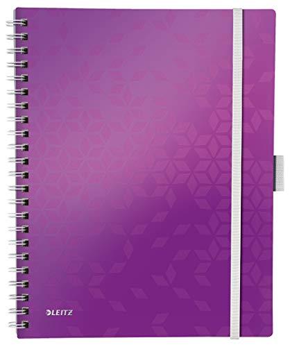 LEITZ WOW Blocco  'Be mobile' PP a quadretti A4 - Viola metallizzato - 46450162