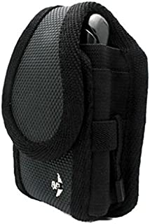 Gray Nite-IZE Cargo Case Rugged Canvas Cover Belt Clip Holster for Boost Mobile Sanyo Mirro SCP-3810 - Consumer Cellular Doro PhoneEasy 626 - Cricket HTC Desire C