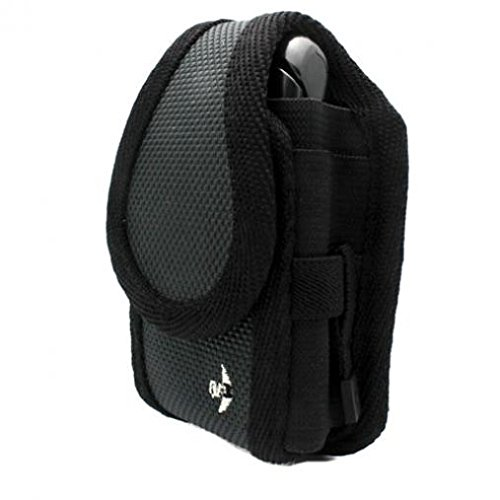 Gray Nite-IZE Cargo Case Rugged Canvas Cover Belt Clip Holster for Verizon LG VX8360 - Verizon LG VX8600 - Verizon LG VX8700