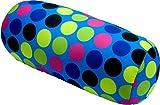 COVERBAGBCN Cojín antiestres Relax Relleno de Bolitas - (Azul Topos Colores)