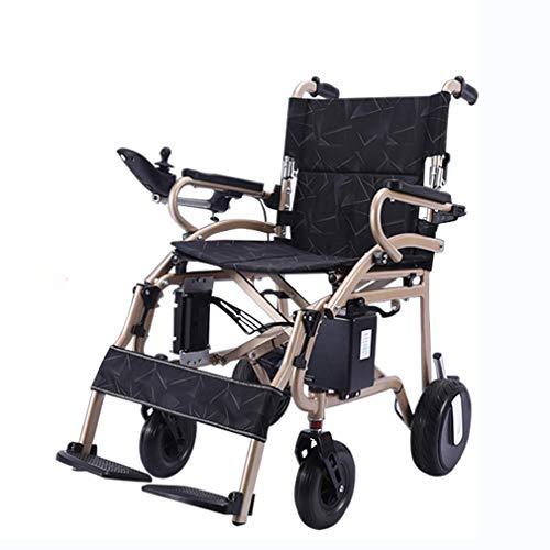 """ADM6 Elektro-Rollstuhl Folding, Superleichtgewicht Faltbare Leistung Mobilität Rollstuhl Gewicht, zugelassen für die Flugzeug-Reise, Drive Dual """"600W Motorsup auf 12 Meilen"""