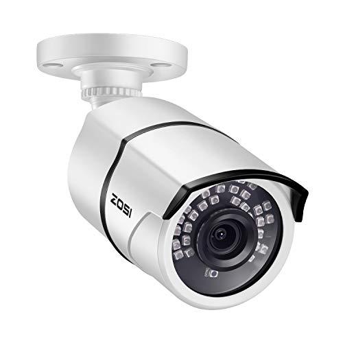 ZOSI 1080P Cámara de Vigilancia Exterior 4-en-1 para Kit de Cámara de Seguridad, 30m Visión Nocturna, PAL