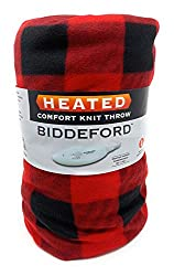 "professional Bidford Blanket LLC. electric blanket. Fleece super soft red and black plaid (50 ""X…"