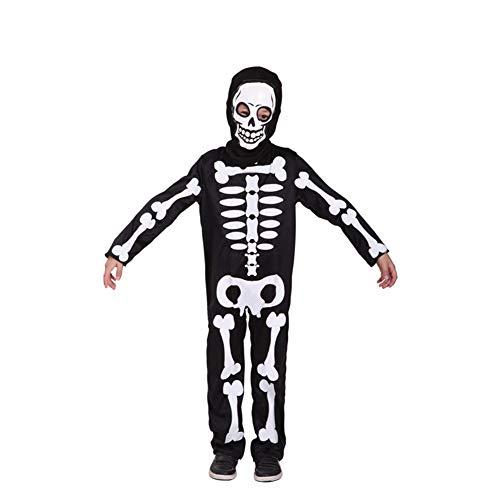 UYSK Halloween Ropa para niños Disfraces de Terror Fantasmas Que gritan Cosplay para niños Ropa Normas de tamaño Compre con Confianza Negro Talla: M-XL Edad Adecuada: 5-12 años
