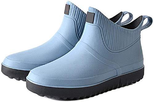 Zapatos de agua para hombre, botas de lluvia de tobillo cortas, para pesca al aire libre, caminar, deslizarse plano, Aqua en la playa, lavado de coches