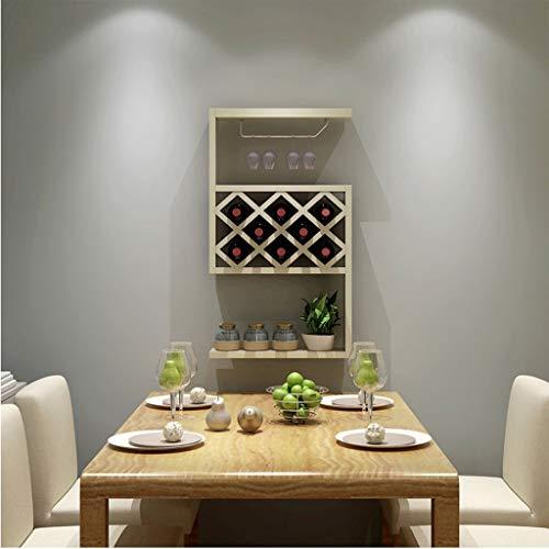 POETRY Organizador de Ducha Armario para vinos Colgante Restaurante Estante para vinos Suspensión de celosía (Color: Arce Blanco)
