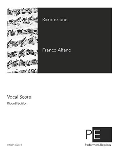 Risurrezione - Vocal Score