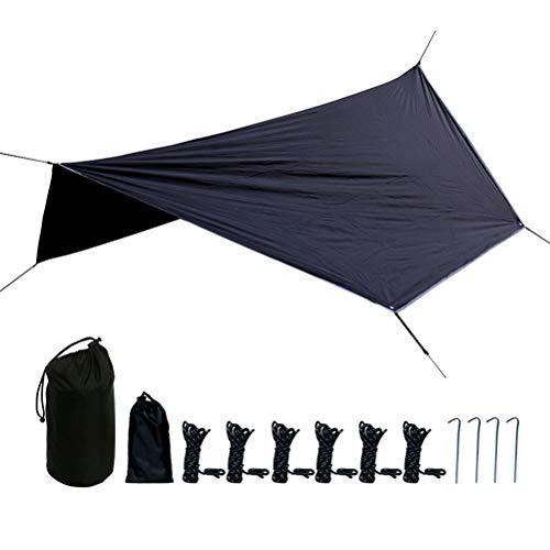 Yissma Regenvliegentent Tarp, hangmat regenvliegentent camping tarp shelter waterdicht camping shelter zonwering 210 T polyester doek
