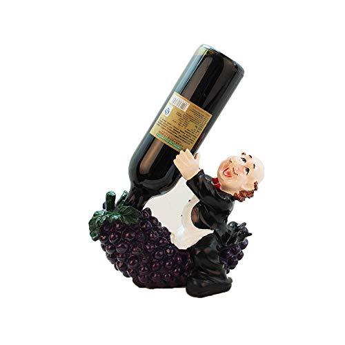 LYLSXY Estanterías de Vino, Titular de la Botella de Vino Creativo Vino de Vino Rack Resina Chef Cabina de Vino Decoración de la Gabinete de Vino