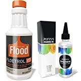 Floetrol Pouring Medium for Acrylic Paint | Flood Flotrol Additive | Pixiss Acrylic Pouring Oil for Creating Cells Perfect Flow 100% Pure High Grade Silicone (100ml/3.3-Ounce)