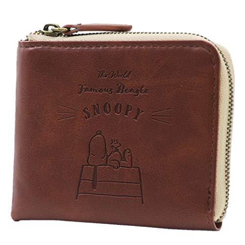 スヌーピー[二つ折り 財布]ICカード ケース付き ショートウォレット/SNOOPY ピーナッツ