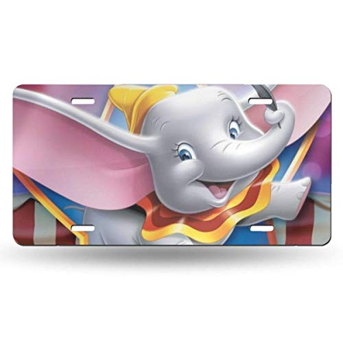 Suzanne Betty Aluminum License Plates - Magic Dumbo License Plate Tag Car Accessories 12 X 6 Inches