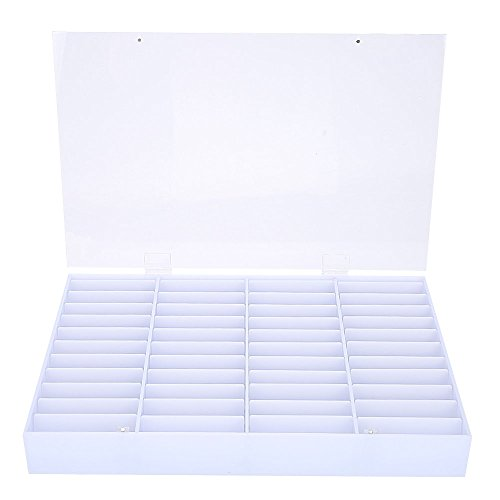 False Nail Art Tips Boîte de rangement, Vide Nail Tips Storage Box Clear Nail Art Decoration Container Fake Nail Display Case, Built in 44pcs Small Block Pieces