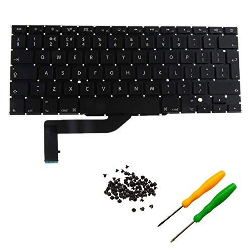 THE TECH DOCTOR Replacement Internal Keyboard UK Layout for Apple MacBook Pro Retina A1398 15' 2012-2015 Model.