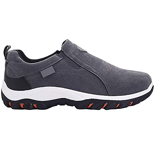 2021Nuevo Zapatillas para Casual Deporte Hombres, Transpirables Zapatos AL Aire Trekking de Hombres, Verano Ligero Running Antideslizantes Gimnasio Calzado Deportivosgray-EU39/US8
