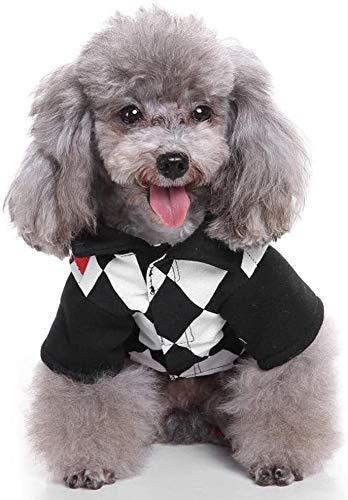 HyiFMY Disfraces de Perros, Tarjetas de Juego Viste Ropa para Perros, Capas de Mascotas con Estilo y clido, para pequea decoracin de Gato de Perro Grande, S