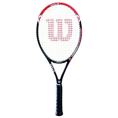 Wilson Damen/Herren-Tennisschläger, Anfänger und Fortgeschrittene, Hyper Hammer 5, Griffstärke 2, Grafit, rot/schwarz, WRT57290U2