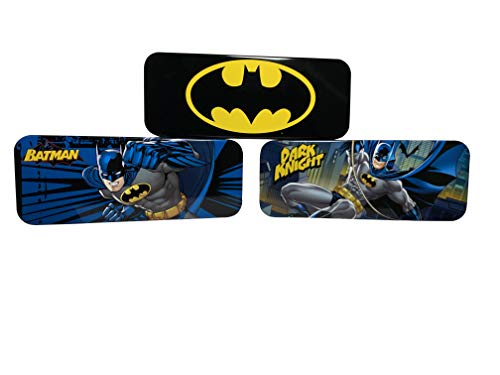 Set of 3 Batman Pencil Case for School and Organizing. Great for Any Batman Fans