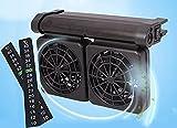 Tanque de agua Ventilador de refrigeración enfriador de tanque de agua Ventilador fresco silencioso o ajustable Tanque de agua de acuario ligero controlador de temperatura pequeño giratorio Acuario