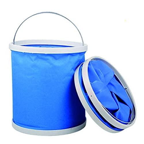 Cubo Plegable Cubeta de Agua portátil Multiuso, Plegable, Ligera, Apto para Lavado de Autos,Espacio para Vacaciones, Jardín, Exterior, Pesca y Camping, Versátil-13L