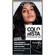 L'Oreal Paris Colorista Deep Black Permanent Hair Dye Gel Long-Lasting Permanent Hair Colour