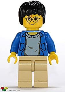 LEGO Harry Potter Minifig Harry Potter Blue Open Shirt Torso Tan Legs