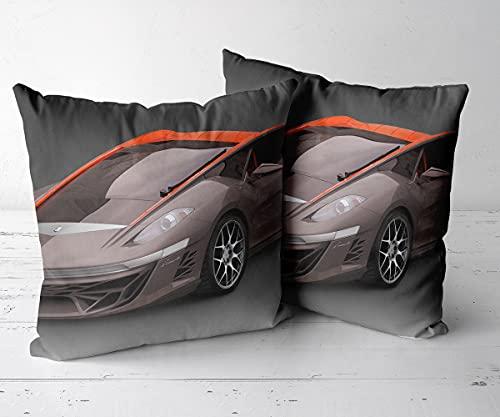 Fundas de almohada cuadradas decorativas para sofá cama, silla, banco, Bertone Nuccio Concept-45,7 x 45,7 cm
