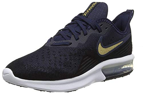 Nike Women's Running Shoes, Black Black MTLC Gold Obsidian White Obsidian 003, US-0 / Asia Size s