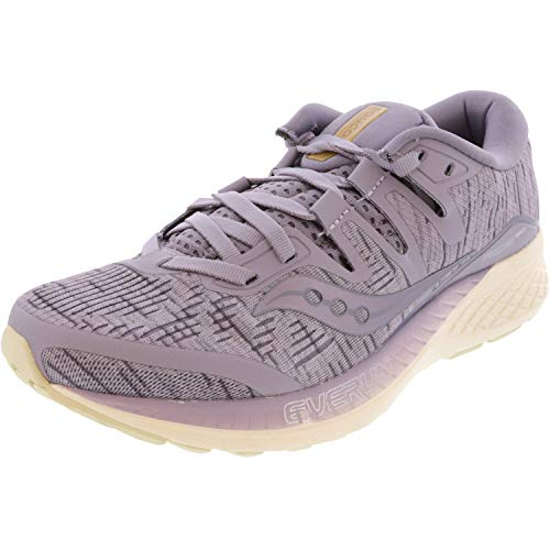 Saucony Ride ISO Neutralschuh Damen-Flieder, Creme, Zapatillas de Running Calzado Neutro Mujer, Morado, 37 EU