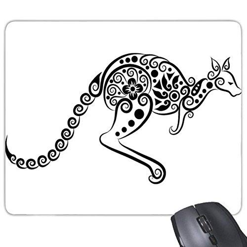 Australia Sabor Canguro Esqueleto ilustración patrón rectángulo Antideslizante de Goma Alfombrilla de ratón Juego Alfombrilla de ratón