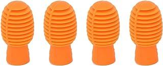 Mute Drumstick, praktischer und praktischer Silikon-Drumstick-Übungstipp für Schlagzeuger für Percussion-Zubehör(Orange)