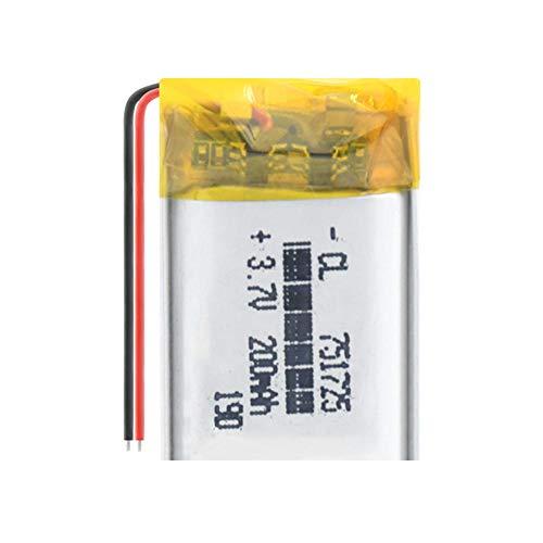 mrwellog 3,7 V 200 mAh 751725 Wiederaufladbarer Li-Polymer-Li-Ionen-Akku für Q50 G700S K92 G36 Y3 Smartwatch für Kinder mp3 Bluetooth-Headset-3,7V_2 PCS