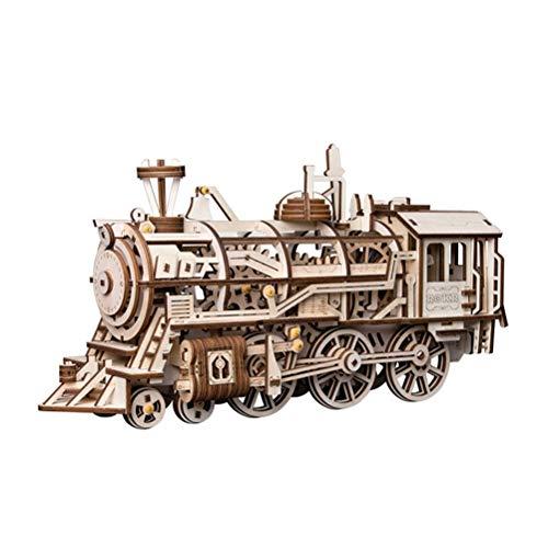 QXF-D DIY Uhrwerk Zahnradantrieb Lokomotive 3D Holzselbstorganisation Modellbau-Kits for Kinder, Jugendliche Und Erwachsene für Erwachsene Jugendliche und Kinder