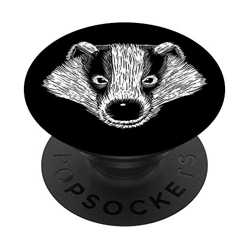 Cute Badger Animal Face Head Clothing Art Gift Kids Women PopSockets PopGrip: Swappable Grip for Phones & Tablets