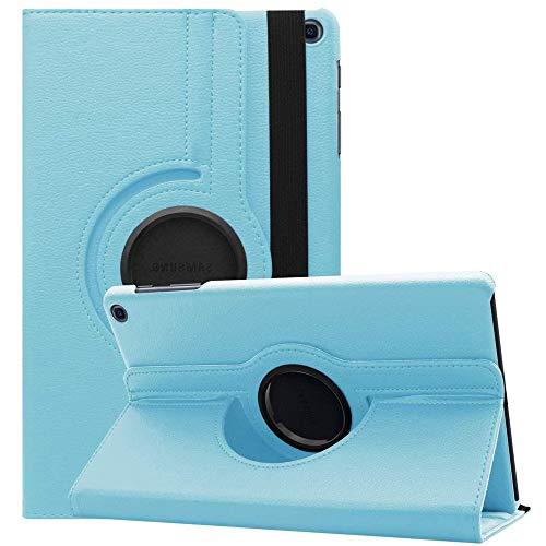 """SwooK Rotating Stand Flip Cover Case for Samsung Galaxy Tab A7 Lite 8.7 inches 2021 (Tab A7 Lite 8.7 """"SM-T220/225, Aqua)"""